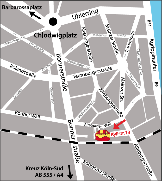 Circusevents Koeln route plan
