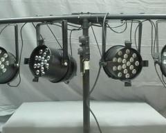 lighting system PAR 64, Tri-LED