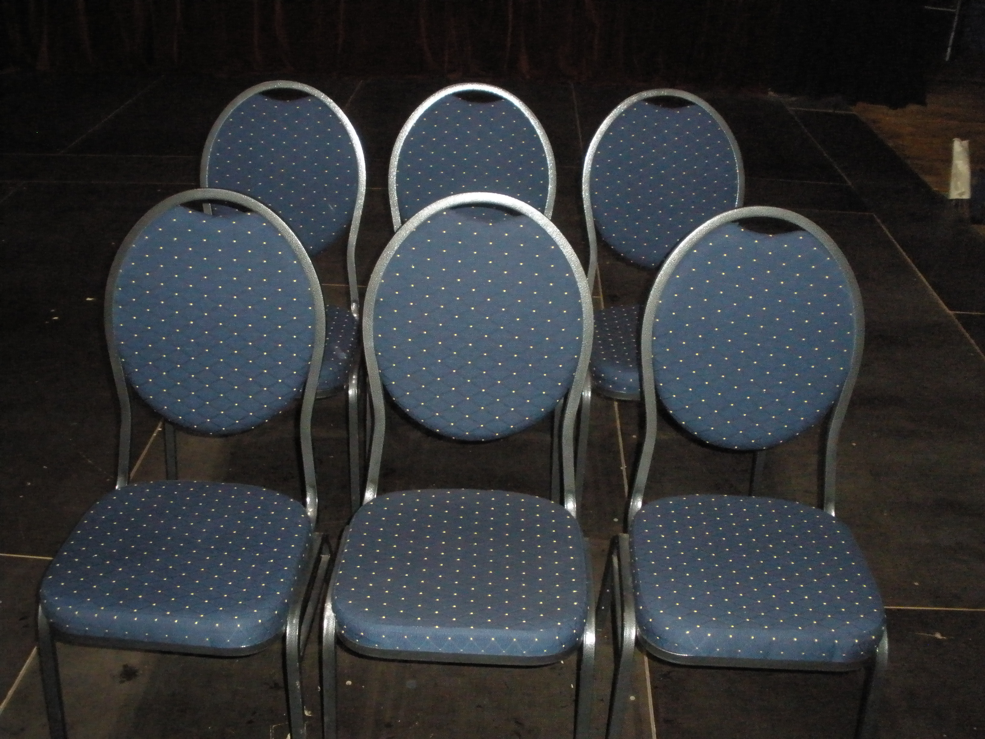 Circusevents Koeln padded chairs blue