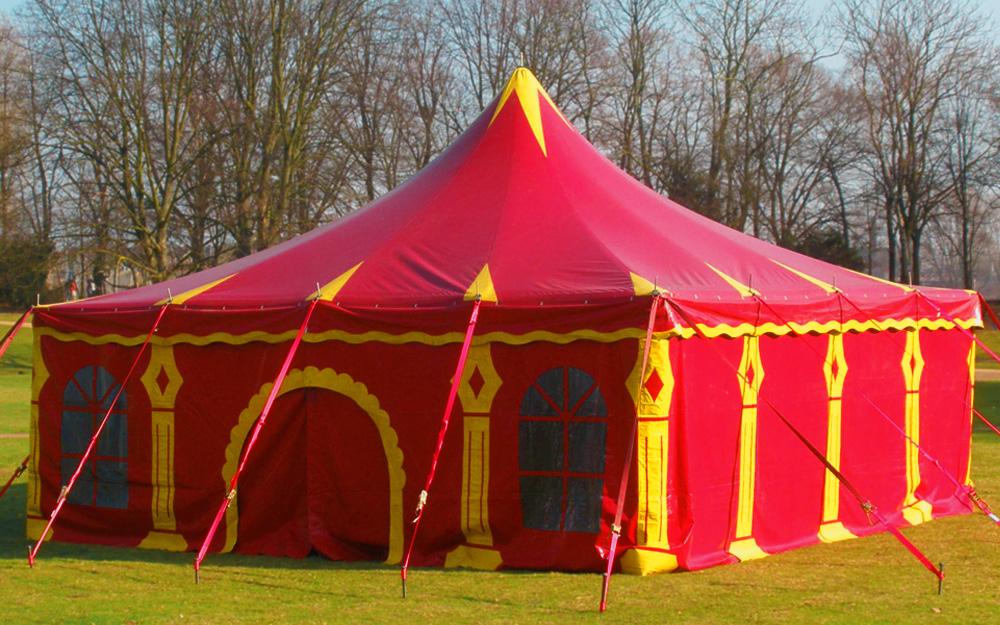 Circusevents Köln Zirkuszelt 2 eckig 8x8m 1 Mast