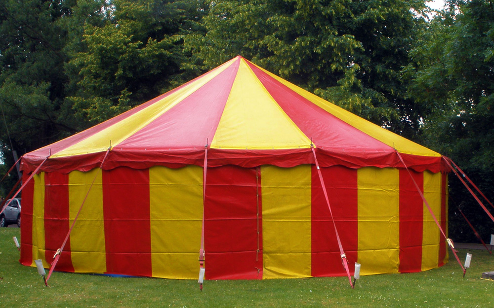 Circusevents Köln Zirkuszelt 3 rund 10m 1 Mast