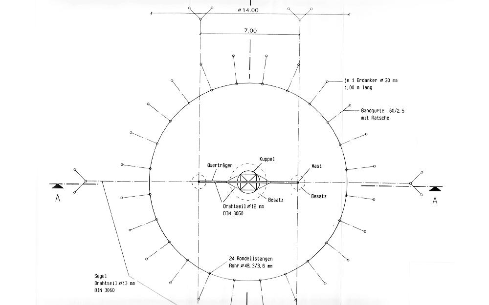 Diameter Area Interior height (middle) Interior height (side) Exterior design Interior design  sc 1 st  Circus tent u0026 circus decoration rental or book a circus act ... & Circus Tent 14 m round u2013 156 sq.m u203a Circus tent u0026 circus ...