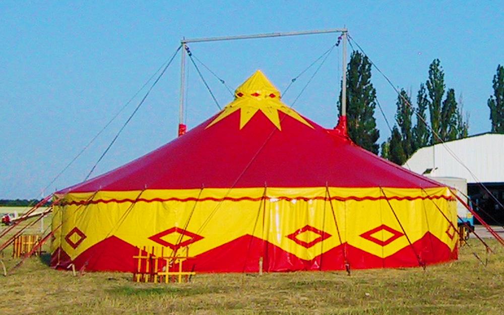 Circusevents Köln Zirkuszelt 5 rund 14m 2 Masten