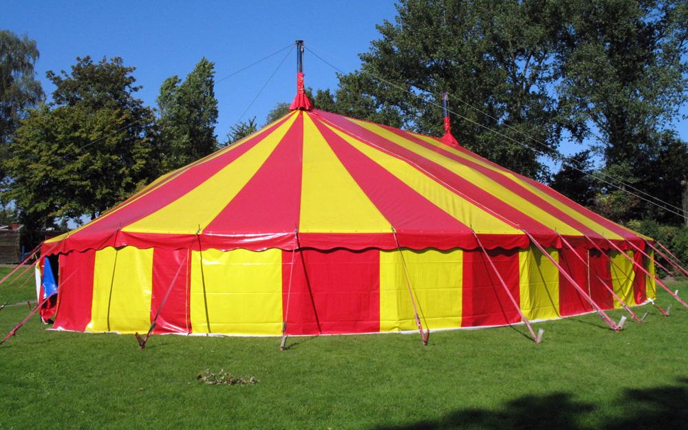 Circusevents Köln Zirkuszelt 6 oval 16-25m 2 Masten